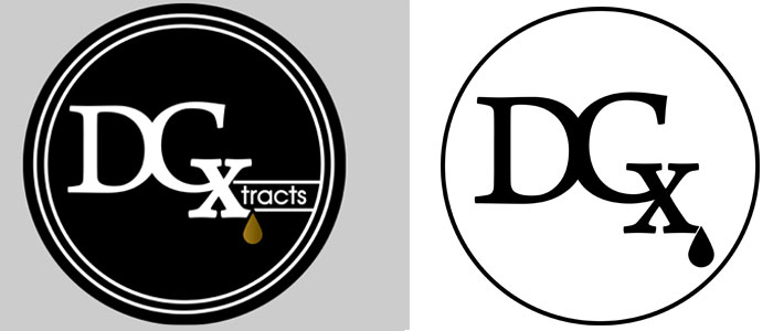 two images of DC Xtracts Logos